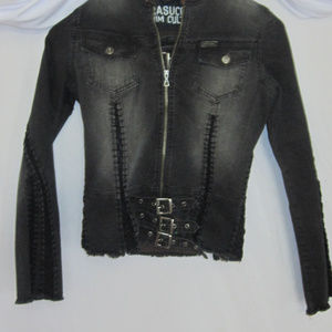 Parasuco Black Denim Jacket and Skirt